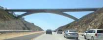 The Lilac Road Bridge over Interstate  north San Diego county Ca