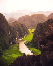 The limestone karsts of Tam Coc  Ninh Binh Vietnam