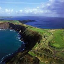 The links course on old head Kinsale county Cork