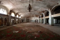 The lobby of the Baker Hotel in Mineral Wells Texas x