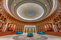 The Lobby of the Ritz Carlton hotel in Riyadh Saudi Arabia