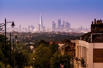 The London Skyline from Gypsy Hill in Crystal Palace