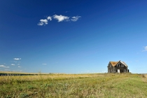 The lonely house on the prairie North Dakota