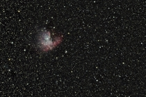 The lonely Pacman nebula NGC  taken from my backyard