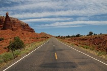 The long road Capitol Reef Utah