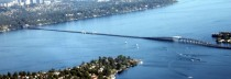 The longest floating bridge in the world  Bridge Seattle Washington