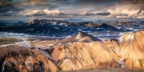 The Looming Landscape of Landmannalaugar Iceland  by Alban Henderyckx x-post rIsland