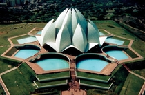 The Lotus Temple in Delhi India