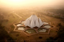 The Lotus Temple in Delhi  x