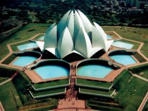 The Lotus Temple in New Delhi India