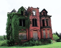 The Lucien Moore house in Detroit built in  and abandoned for decades before being restored