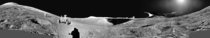 The Lunar Apennine Mountains - landing site of Apollo