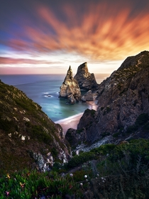 The magical praia da ursa in portugal Got this view when i got back up after an early morning visit  tommigramm