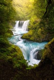 The magical Spirit Falls Located on the WA side of the Columbia River Gorge it has no official trailhead and is usually only frequented by kayakers and photographers