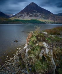 The magnificent Grasmoor from the shores of Crummock Water