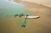The Maid of Harlech The World War Two American fighter plane thats spent decades buried under the sand of a Welsh beach