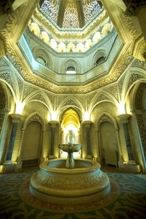 The main hall of the Monserrate Palace Sintra PT