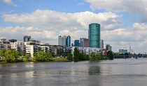 The Main River and Frankfurt Germany