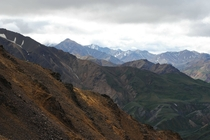 The majestic mountains of Denali National Park during summer
