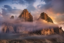 The Majestic Three Peaks of LavaredoDrei Zinnen in the Dolomites South Tyrol Italy  Photo by Maurizio Fecchio