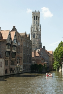 The Markt Square Tower in Bruges Belgium