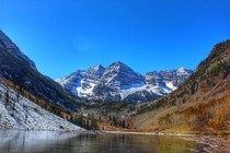 The Maroon Bells near Aspen Colorado