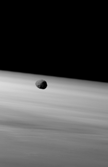 The Martian moon Phobos taken by Mars Express  January