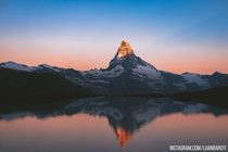 The Matterhorn at sunrise