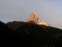 The Matterhorn at Sunrise Zermatt Switzerland