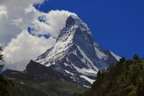 The Matterhorn from Zermatt Switzerland