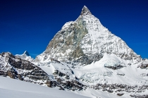 The Matterhorn looking super sharp up close under the eastern face - Zermatt Switzerland