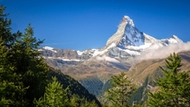 The Matterhorn - morning on the Europaweg - Zermatt Switzerland