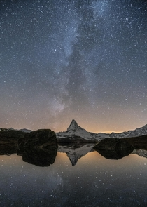The Matterhorn perfectly aligns with the Milky Way
