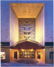 The Mayan-inspired portal of  Sutter San Francisco designed by Timothy Pflueger in