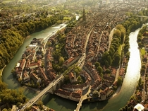 The medieval center of Bern capital of Switzerland and a UNESCO World Heritage Site