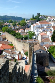 The medieval village walls around bidos Portugal