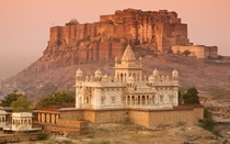 The Mehrangarh Fort built in  in Jodhpur India by Rao Jodha