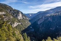 The Merced River cutting through Yosemite