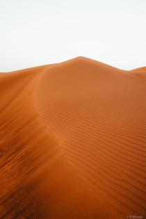 The mesmerizing ocean of red sand in Lahbab United Arab Emirates