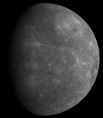 The MESSENGER spacecrafts first photo of the unseen side of Mercury