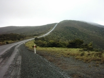 The metal road to Cape Reinga in Northland New Zealand