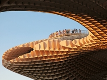 The Metropol Parasol at the Plaza de la Encarnacon in Seville Spain is the largest wooden structure in the world Dorothea Schmidt