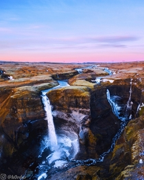 The mighty Hifoss seen from above Definitely my favorite waterfall in Iceland you can feel the power of this  meters high beast