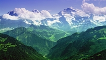 The Mighty Jungfrau Bernese Alps Switzerland  x-post from rwallpapers