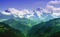 The Mighty Jungfrau - Burmese Alps  by Unkown