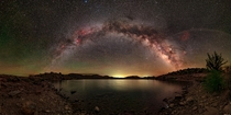 The Milky Way above a lake in New Mexico that I found on Google Maps
