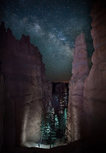 The Milky Way above Bryce Canyon National Park Utah  photo by Jason Hatfield