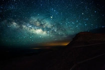 The Milky Way above Haleakala Volcano Maui
