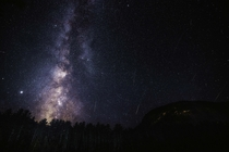 The Milky Way and Perseids Over New Hampshire