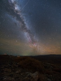 The Milky Way and the Delphinid meteor shower from Las Campanas Observatory in Chile last week